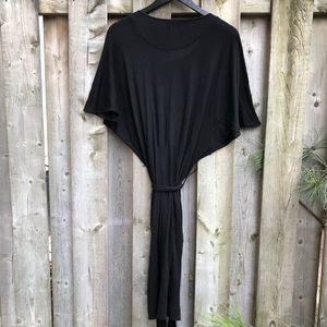 James Perse light wool blend tie waist Dress